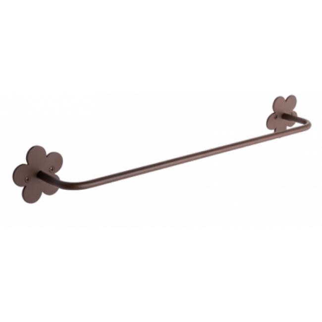 Toallero recto 45 cm provenza acero lacado pvz10mx for Toalleros electricos cromados