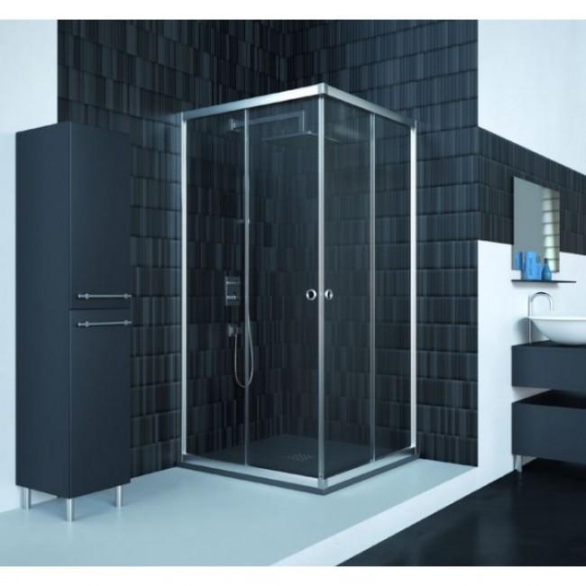 Mampara ducha angular londres doccia for Mamparas de ducha 80x80