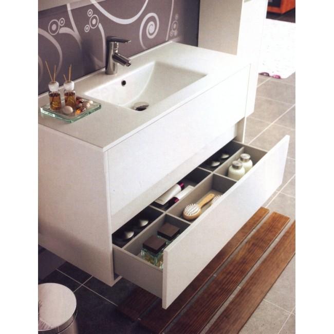 Muebles Baño Blanco Brillo : Mueble de ba?o noja blanco brillo lavabo cer?mico salgar