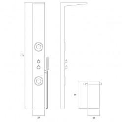 Columna termost tica piave plato legato mampara sonno for Columna termostatica